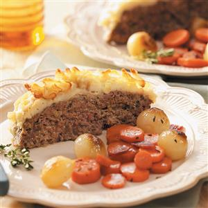 Meat Loaf with Potato Crust Recipe