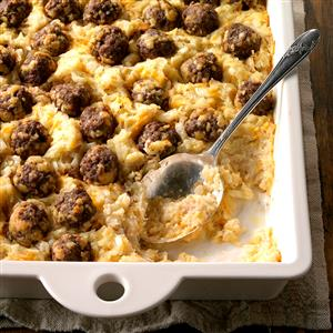 Meatball Hash Brown Bake Recipe