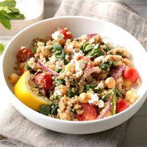 Mediterranean Bulgur Bowl Recipe