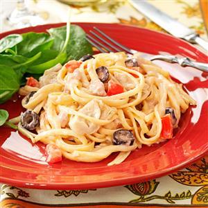 Mediterranean Tuna Linguine Recipe