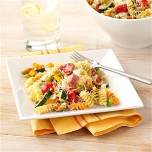 Mediterranean Vegetable Pasta Salad Recipe