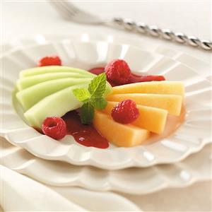 Melon with Raspberry Sauce Recipe
