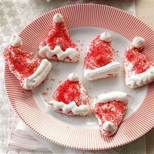 Meringue Santa Hats Recipe