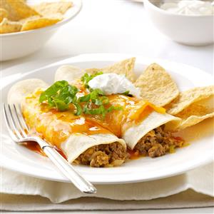 Microwave beef cheese enchiladas recipe taste of home microwave beef cheese enchiladas recipe forumfinder Gallery