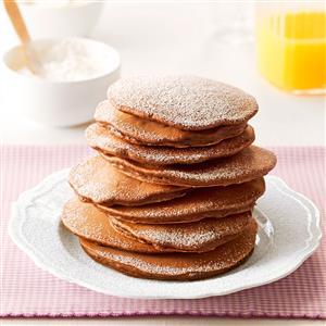 Mini-Chip Cocoa Pancakes Recipe