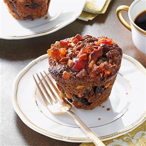 Miniature Christmas Fruitcakes Recipe
