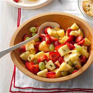 Minty Pineapple Fruit Salad Recipe