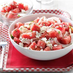 Minty Watermelon Salad Recipe