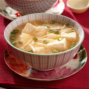 Miso Soup with Tofu and Enoki Recipe