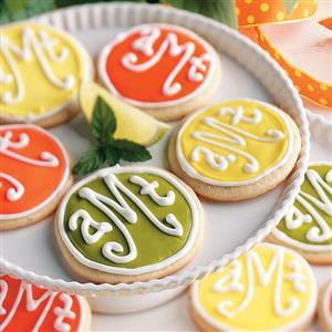 Monogrammed Cookies Recipe
