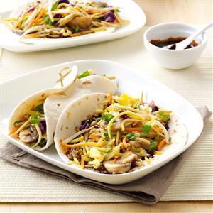Moo Shu Mushroom Wraps Recipe