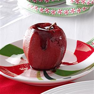 Mulled Wine-Poached Apples Recipe