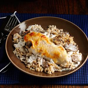 Mushroom Chicken with Wild Rice Recipe