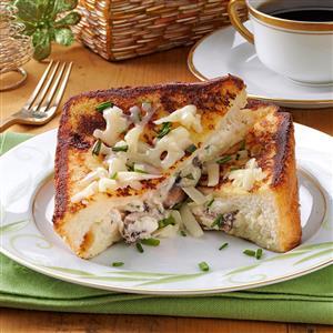 Mushroom-Herb Stuffed French Toast Recipe