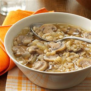 Mushroom Onion Barley Soup Recipe