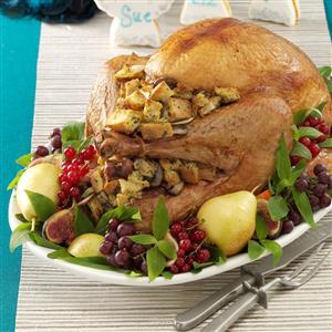 Mushroom-Onion Stuffed Turkey Recipe