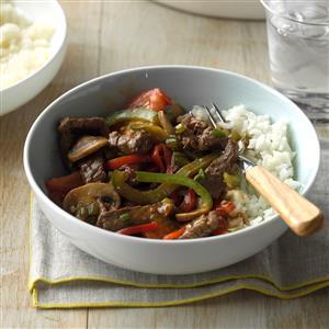 Mushroom Pepper Steak Recipe