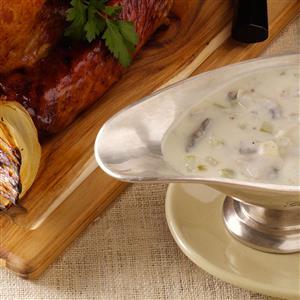 Mushroom Sour Cream Gravy Recipe