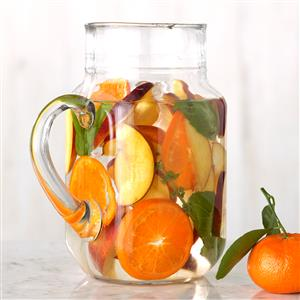 Nectarine, Basil and Clementine Infused Water Recipe