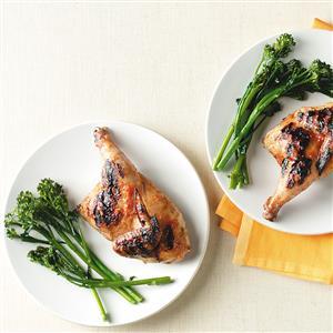 Nectarine Barbecued Cornish Hen Recipe
