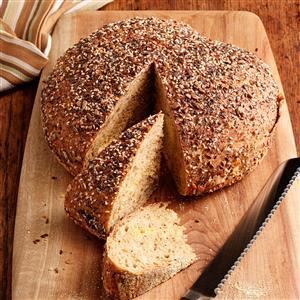 No-Knead Harvest Bread Recipe