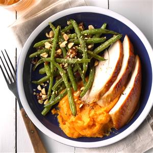 Nutty Maple Roasted Green Beans Recipe
