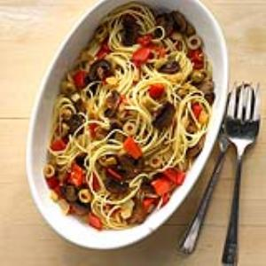 Olive and Red Pepper Linguine Recipe