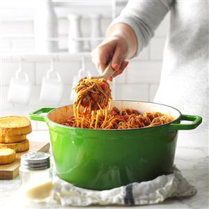 One-Pot Meaty Spaghetti Recipe