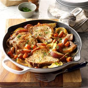 One-Skillet Pork Chop Supper Recipe
