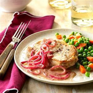 Onion-Dijon Pork Chops Recipe