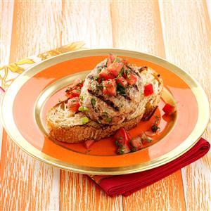 Open-Faced Fennel Turkey Burgers Recipe