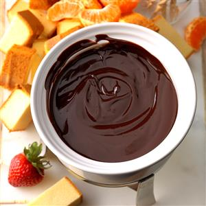 Orange Chocolate Fondue Recipe