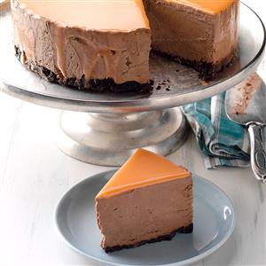 Orange Chocolate Mousse Mirror Cake Recipe