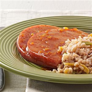 Orange-Glazed Ham Steaks