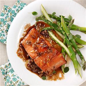 Orange-Pecan Salmon for Two Recipe