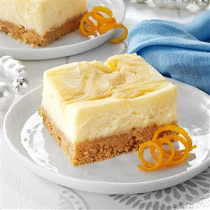 Orange-Swirled Cheesecake Dessert Recipe