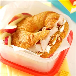Orange Turkey Croissants Recipe