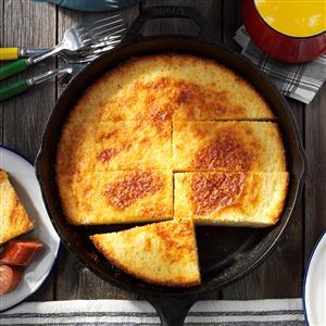 Oven-Fried Corn Bread Recipe