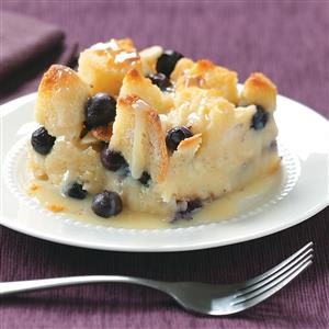 Over-the-Top Blueberry Bread Pudding Recipe