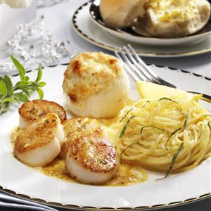 Pan-Fried Scallops with White Wine Reduction Recipe