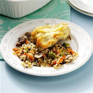 Parmesan Chicken with Mushroom Wild Rice Recipe