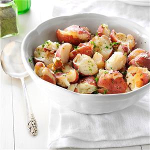 Parsley Smashed Potatoes Recipe
