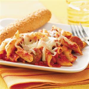 Pasta and Sausage Bake Recipe