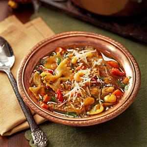 Pasta and White Bean Soup With Sun-Dried Tomatoes Recipe