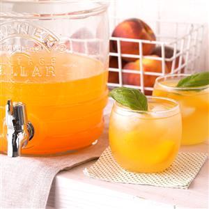 Peach-Basil Cooler Recipe