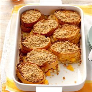 Peach-Stuffed French Toast Recipe