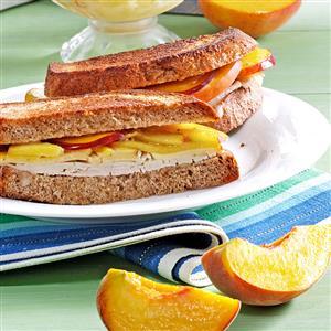 Peach Turkey Sandwiches Recipe