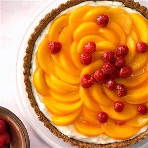Peaches 'n' Cream Raspberry Tart Recipe
