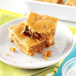 Peanut Butter Blondie Bars Recipe
