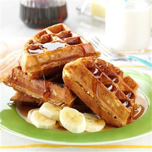 Peanut Butter and Banana Waffles Recipe